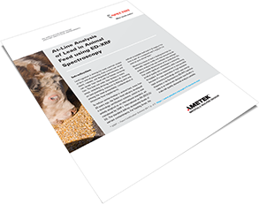 At-Line Analysis of Lead in Animal Feed using ED-XRF Spectroscopy